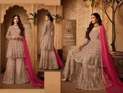 Ladies Fancy Embroidery with Net Kurti