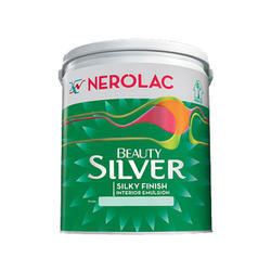 Nerolac Beauty Silver Interior Emulsion Wall Paint, Packaging Type: Bucket