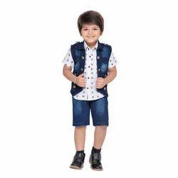 Kids Shirt Waistcoat And Short Set