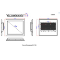 CPU 15 Inch Industrial Touch Panel
