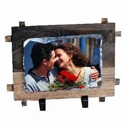 Personalized Printed Stone/Rock/Slate With wooden Photo Frame