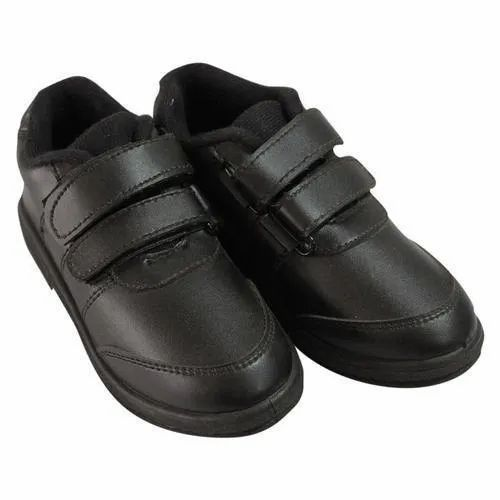Black Daily Wear School Time Shoes, Packaging Type: Box, Plastic Bag