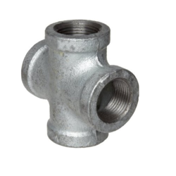 jindal Stainless Steel Cross Tee, for Structure Pipe, Size: 2 inch