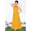 Girl Cotton Yellow One Piece Middy