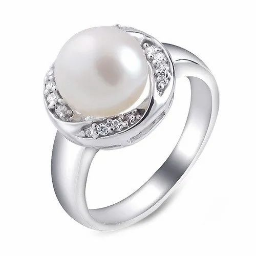 d131e4d9b White Jaipur Gemstone Natural Pearl Stone Ring, Rs 10000 /piece | ID ...
