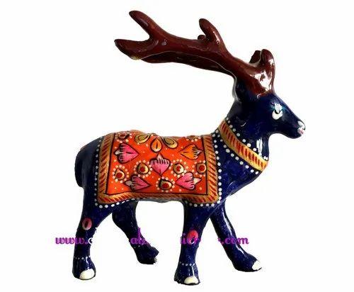 Handicrafts Metal Elephant Enamel and Metal Lord Ganesha