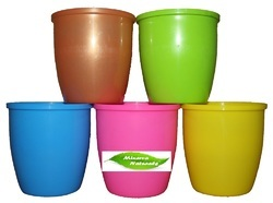 Table Top Colorful Small Decor Plastic Planters