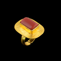 Natural Gemstone Women Handmade Gold Plated Stacking Ring