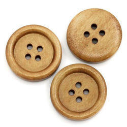 Brown Garment Wooden Button