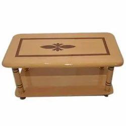 Brown Rectangular Designer Wooden Center Table, Size: 4x2.5 Feet