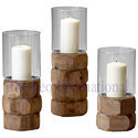 Set of 3 decorative Wooden Candle Stand moder design