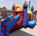 Kids Jumping And Sliding Jumbo Bouncy Castle
