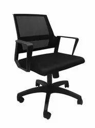 Omacme Black CLAC 1225 Mesh Office Revolving Chair