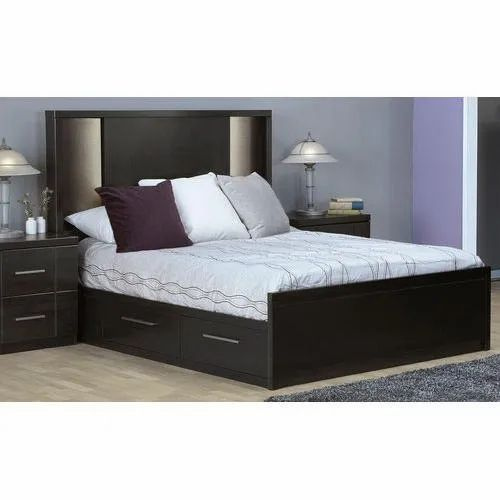 Wooden Stroage Drawer Double Bed