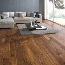 Brown Teak Wood Engineered Wooden Flooring, Surface Finish: Matte, Thickness: 10 Mm