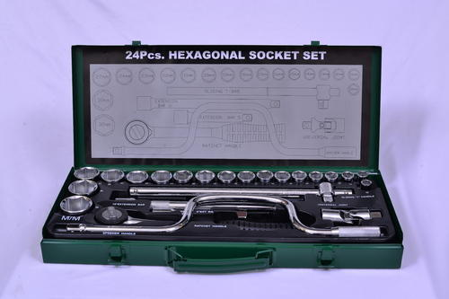 Eastman 1/2 '  Drive Hexagon Socket Set E-624-RI, Pack Size: 24 Piece