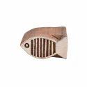 Fish Shape Wooden Henna Stamp