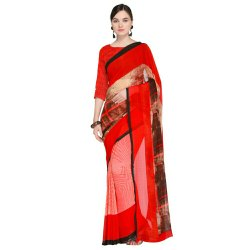 Ligalz Presents Georgette Saree With Blouse