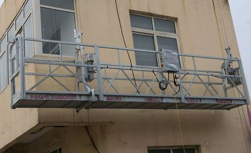 Single Mast Platform Suspended From Movable Jobs - Tractel