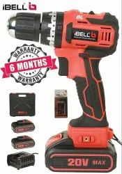 iBELL BM18-60 20V Brushless Impact Driver Drill (Cordless) with 2 Batteries, Charger, Case and Screw