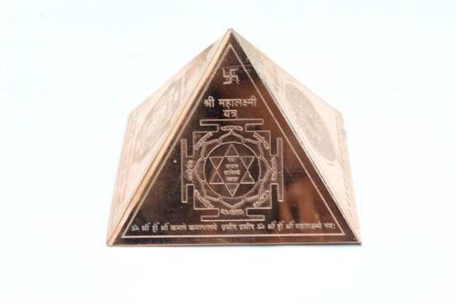 Copper Pyramid With Wealth Yantra