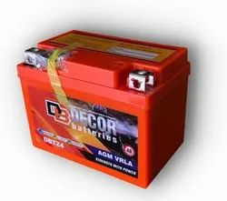 Decor Sealed AGM VRLA Motorcycle Battery