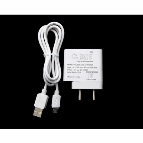 Electric Clique 2.1 Amp Double USB Mobile Charger