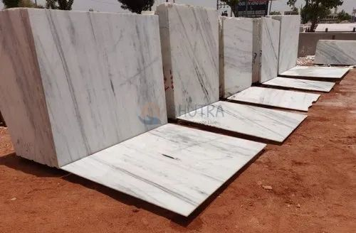 White Bhutra Kishangarh Marble Stone, Thickness: 16 mm