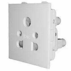 5 Pin White Legrand 16A Socket, Switch Size: 1 Module, 230 V