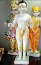 White Marble Iskcon Krishna Statue
