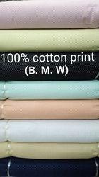 Cotton Print Shirting Fabric (B.M.W.)