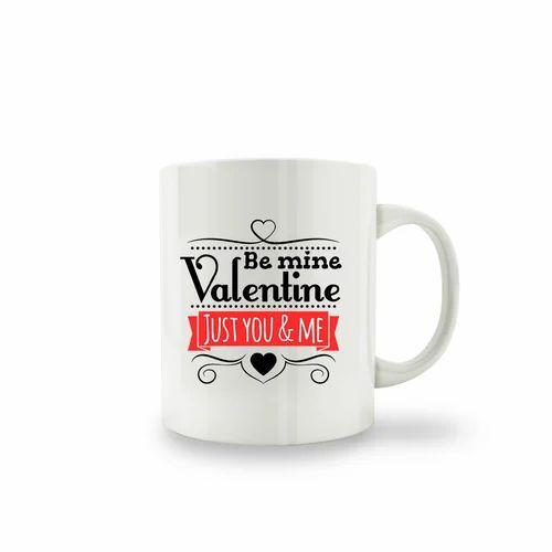 Creative Clap White Mugs With Multi Color Print Valentine S Day