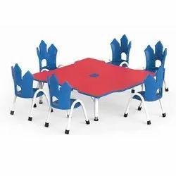 OKP-CF01 Manor Table, Dimensions: 48x48x15-24 Inch
