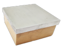 Gold Tool Steel Block With Wooden Base