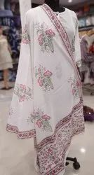Hand Block Printed Cotton Designer Dupatta