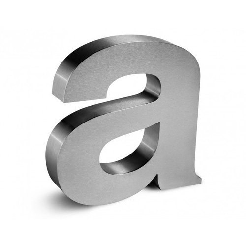 Stainless Steel 3D Letters WITH POWER SUPLY