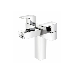 Central Hole Basin Mixer With 450 Mm Braided Hoses