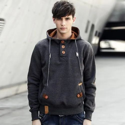 Full Sleeves Party Wear Mens Fashion Hooded Sweatshirts, Size: M to XXL, Rs  450 /piece | ID: 21226303130