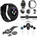 Round Black V8 Dial Face Digital Smart Watch