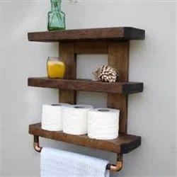 Cellon Wood Finish Bathroom Shelves Rs, Wooden Bathroom Shelf