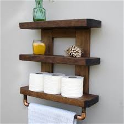 Cellon Wood Finish Bathroom Shelves Rs