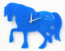Acrylic Horse Wall Clock