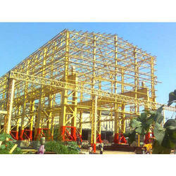Yellow Mild Steel Structural Fabrication Service