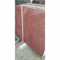 Ruby Red Granite Slab, Thickness: 15-20 mm, for Flooring