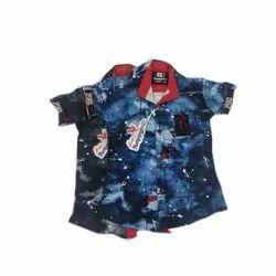 Kids Stylish Half Sleeve Party Wear Shirt