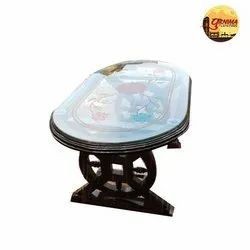 Oval Wooden Center Table