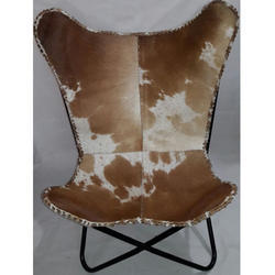 Hair On Leather Butterfly Chair
