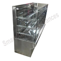 Square Glass Food Display Counter