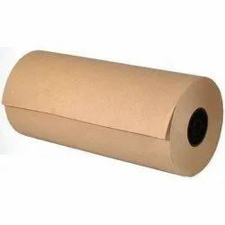 Plain Brown Kraft Paper Roll, GSM: 120 - 150