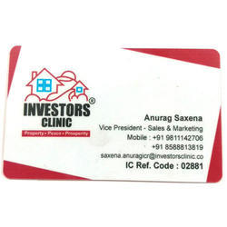 White PVC Visiting Cards